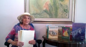Rosemary Kahn with some of her books