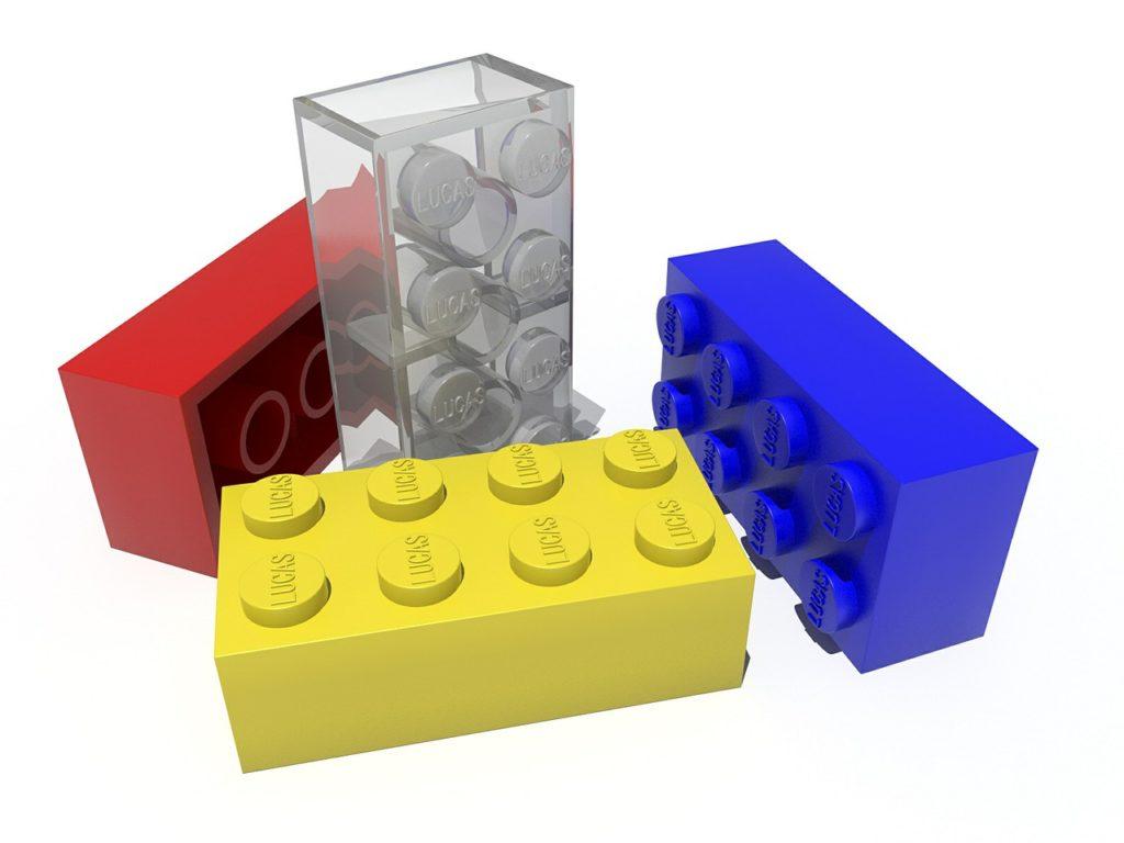 lego pieces as a symbol of blocks